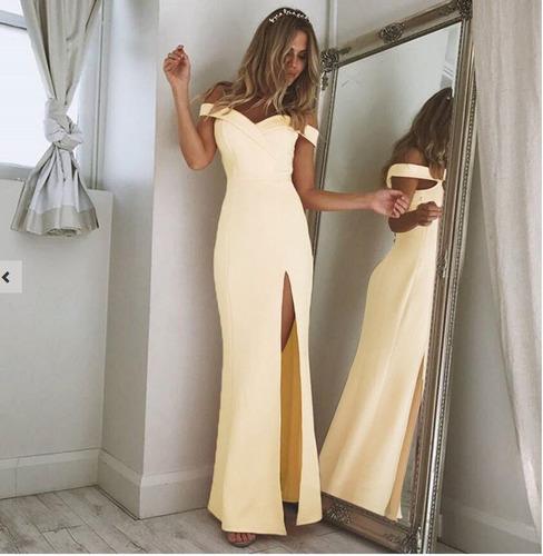 elegante coctel fiesta gown vestido largo