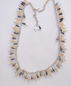 110738bd687b Elegante Collar Con Murano Y Cristales
