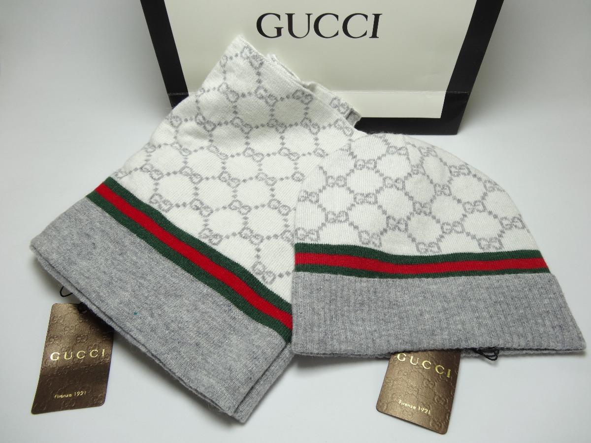 lo último 5168c 278d6 Elegante Conjunto Bufanda Con Gorro Para Dama Gucci