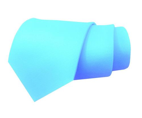 elegante corbata azul aqua textura micro cuadro envio gratis