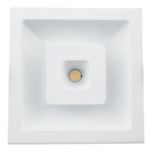 elegante cupula = panel led cuadrada 18w 2 tonos calido frio