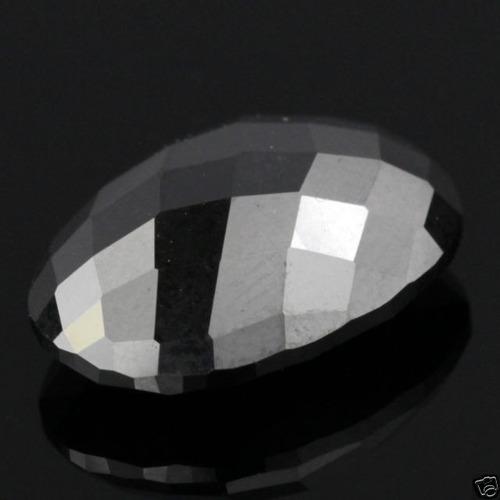 elegante diamante negro oval en corte checker, 3.88 ct.