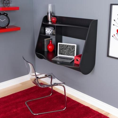elegante escritorio minimalista flotante importado prepac