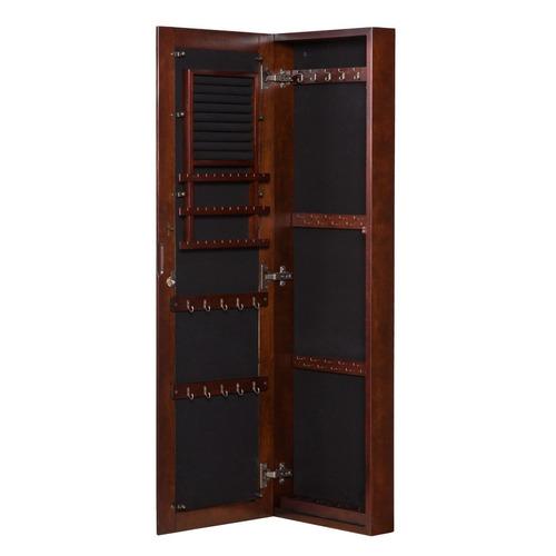 elegante espejo con joyero incluido importado nuez madera