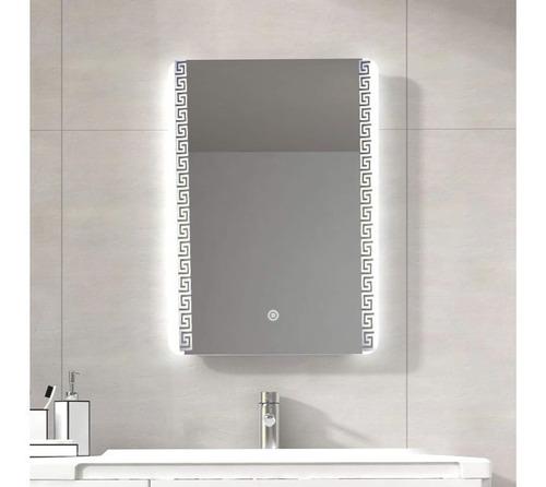 elegante espejo iluminado luz led touch rectangulo 70 x 50cm