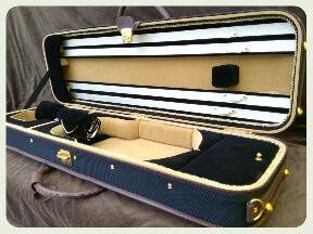 elegante estuche para violin 4/4 hecho en madera