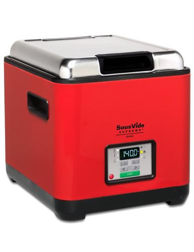 elegante horno agua sous vide supreme rojo