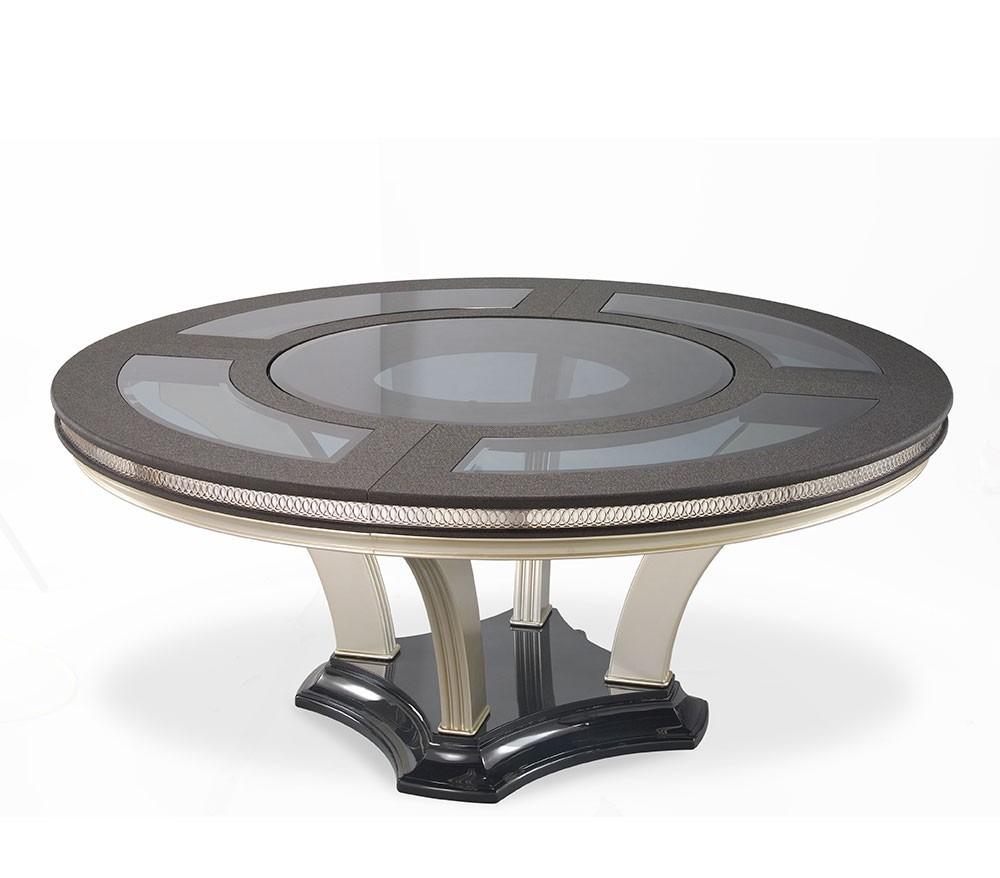 Elegante juego de comedor de 6 sillas y mesa redonda for Ofertas de mesas y sillas de comedor
