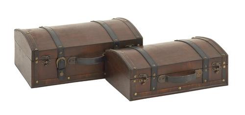 elegante juego de dos baúles baúl benzara classic