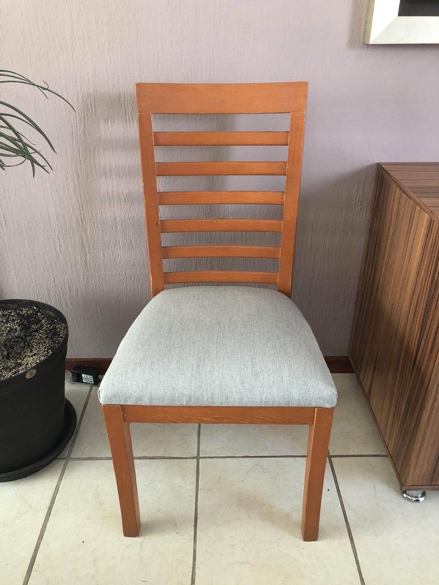 Elegante juego de sillas color maple para comedor - Sillas comedor colores ...