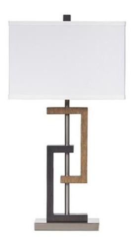 elegante lámpara minimalista ashley poly table lamp