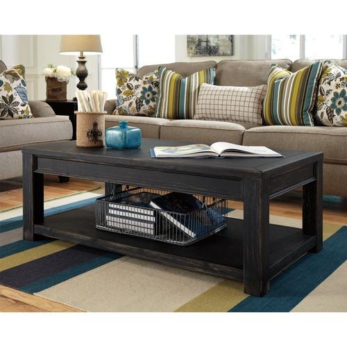elegante mesa de cocktail ashley furniture