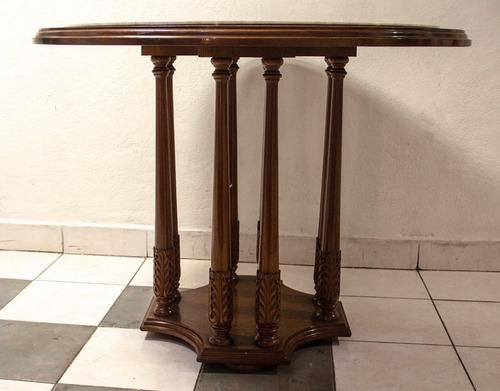 elegante mesa de hall con cubierta de mármol, para recepción