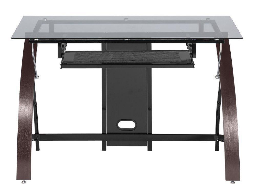Elegante mesa de vidrio escritorio z line claremont vv4 - Mesas de vidrio ...