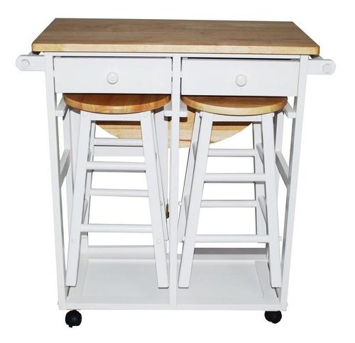 elegante mesa desayunador portátil con bancos yu shan