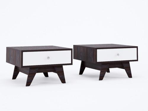 elegante mesa lateral o de centro para sala moderna ruml