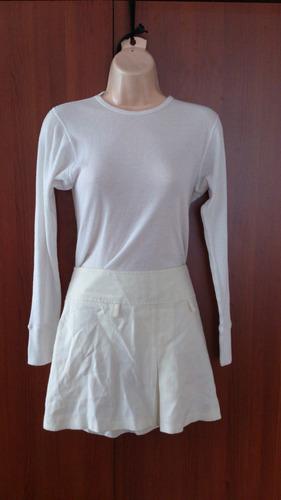 elegante mini falda biege nueva americana liquidooo...