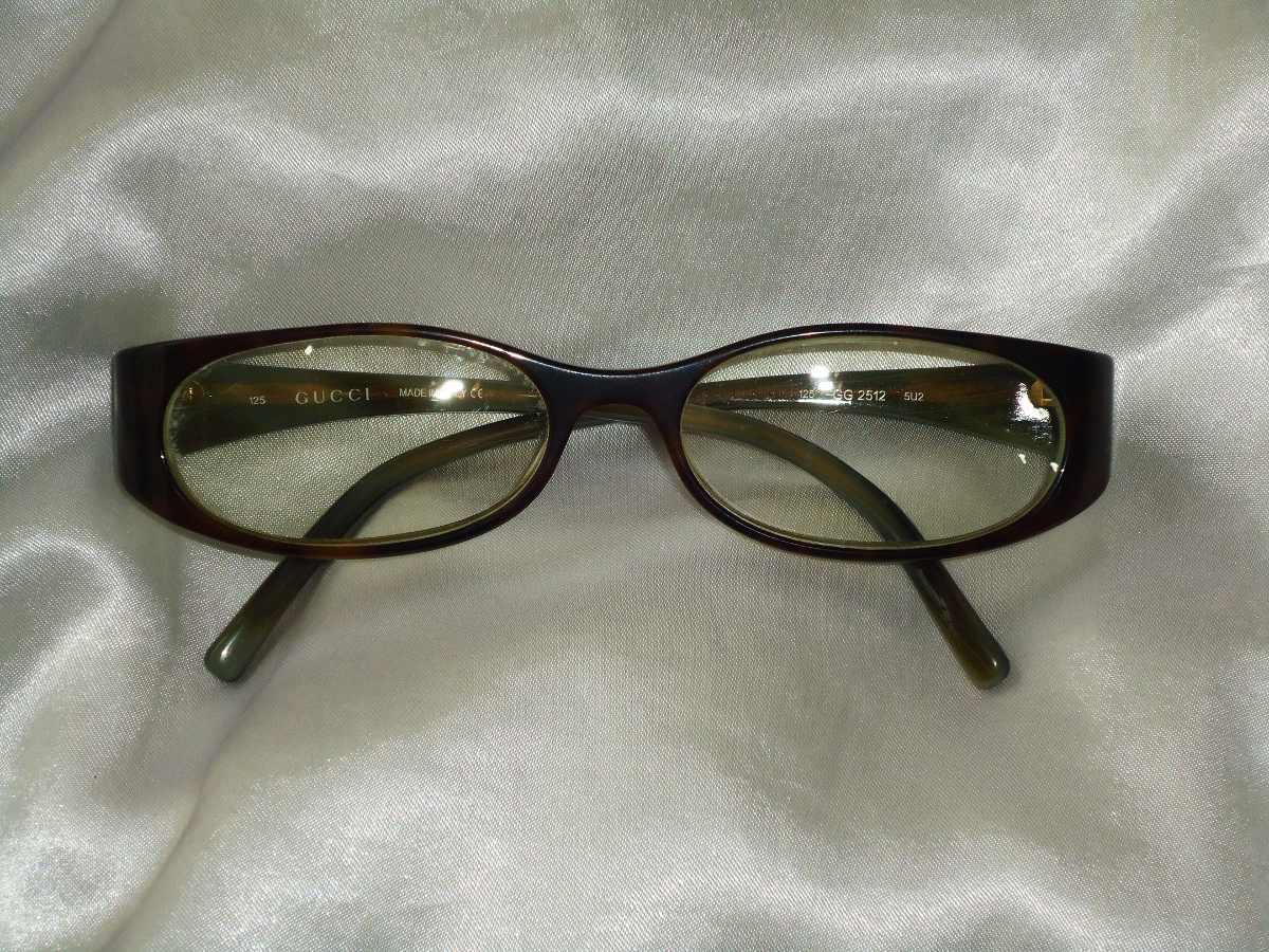 elegante óculos fem.vintage armação grau gucci,itália,déc.90. Carregando  zoom. 4c58ef01de