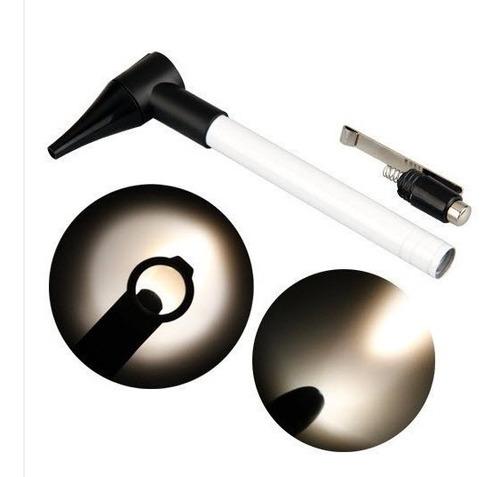 elegante otoscopio 6 especulos luz oido + pila (1065)