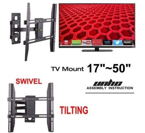 elegante pantalla plana hdtv tv pared soporte de montaje 26
