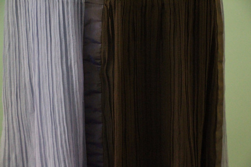 elegante  pollera plisada marca menage a trois - envios