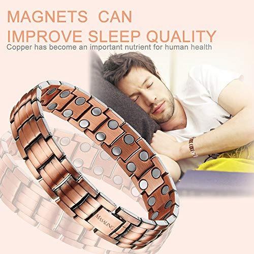 elegante pulsera de cobre puro terapia magnetica alivio del