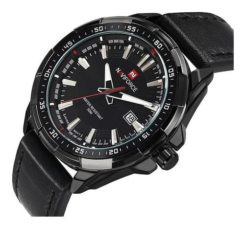 elegante reloj analogico naviforce para hombre resiste agua