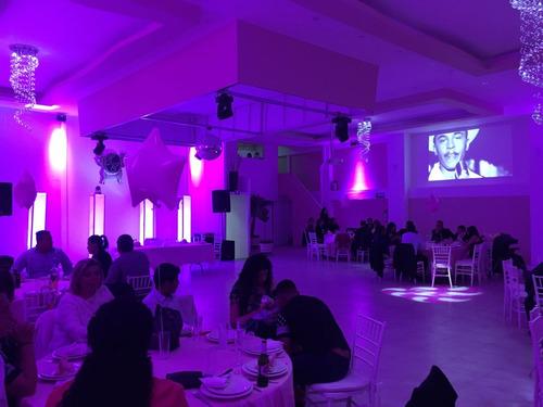 elegante salon de fiestas p/ xv años, bodas, bautizos, etc.