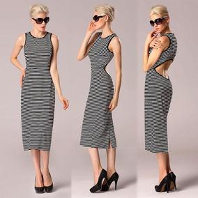 635ba6c20186d Elegante Senhora Mulheres 's Moda Sensual Listra Cut Out Fe