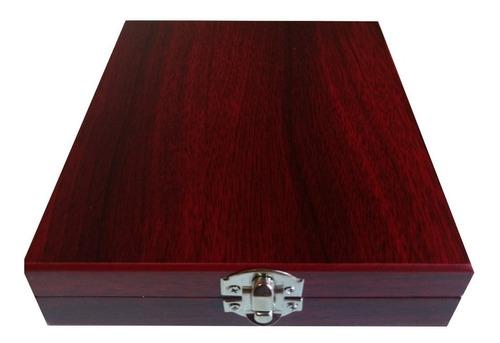 elegante set estuche madera sacacorcho navaja destapador