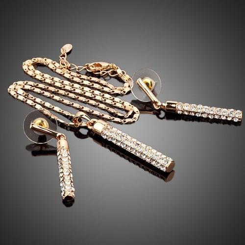 elegante set swarovski de collar y aretes para tu vestuario!