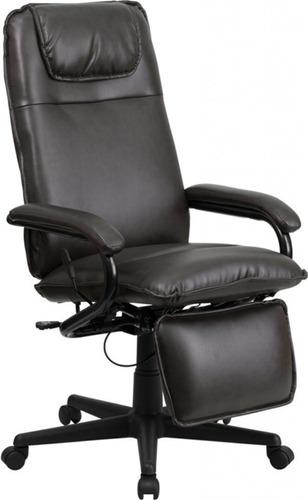 elegante silla ejecutiva flash furniture piel importada