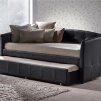 elegante sofa con cama minimalista hillsdale negro