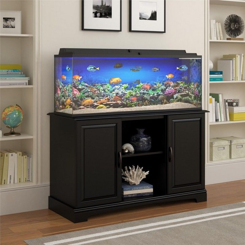 Elegante stand mueble para acuario pecera alta harbor u for Mueble para acuario