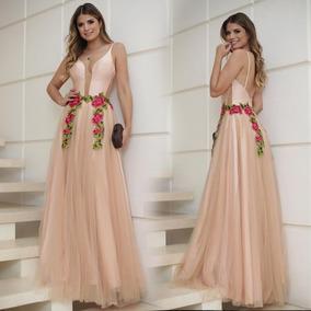 Elegante V Del Cuello Noche Maxi Vestido Largo Partido Boda