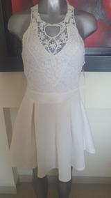 Elegante Vestido Blanco Marca Vertiche