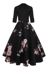 1a56060bd Elegante Vestido Casual Dama Algodón Flores Cómodo Elástico