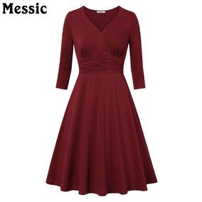 2e43a67dc Vestido Damamanga Tres Cuartos Elegante Color Beige - Vestidos en ...
