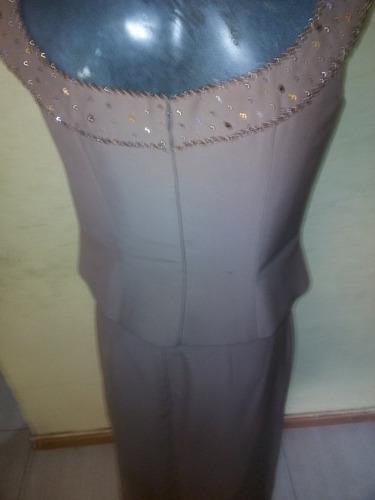 elegante vestido de fiesta de dos piezas (talla l)