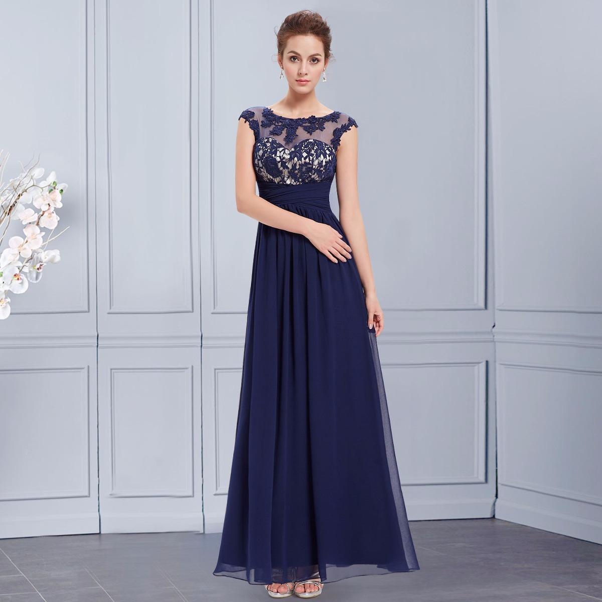 ecadcbeb8 elegante vestido fiesta encaje gasa madrina moda pasión. Cargando zoom.