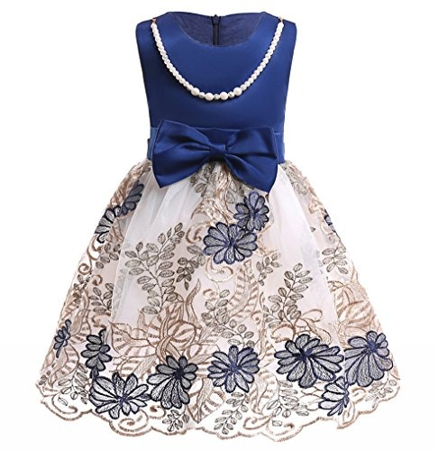 0dbdfeddd Elegante Vestido Fiesta Formal Para Niña Con Moño Estampado ...