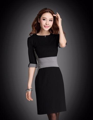 elegante vestido formal evento negro mujer envio gratis 5113