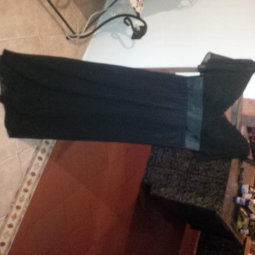 elegante vestido largo color negro para dama