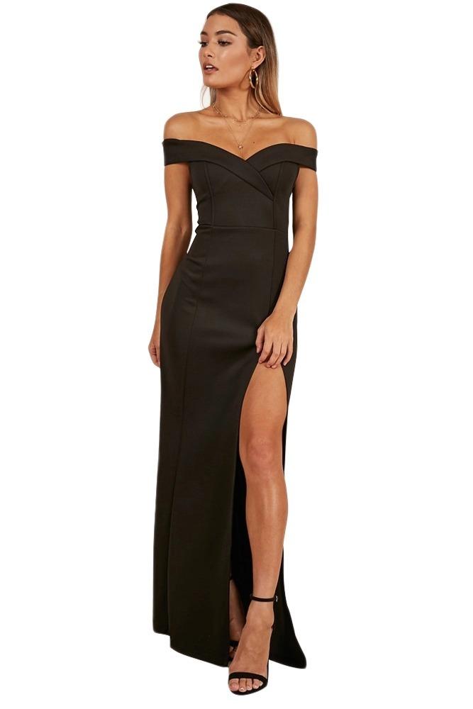 74cffbefe elegante vestido largo sirena noche fiesta hombros e610313. Cargando zoom.