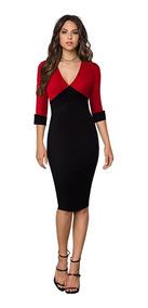 Elegante Vestido Para Día De Oficina O Eventos Form R10206