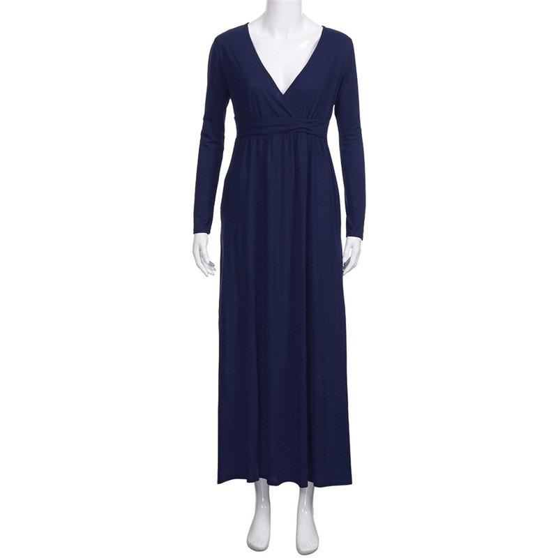 2a2dede52 elegante vestido para fiesta con escote v y manga larga. Cargando zoom.