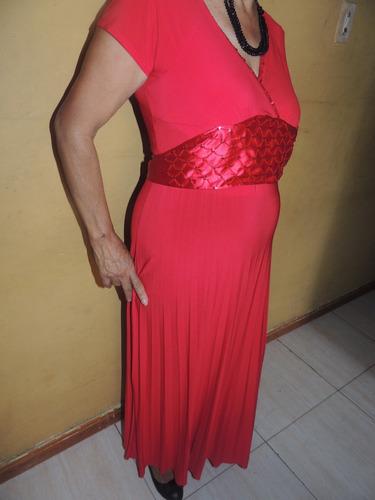 c248e77765 elegante vestido rojo en lycra talla única excelente estado. Cargando zoom.