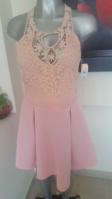 Elegante Vestido Rosa Marca Vertiche Liquidacion 350