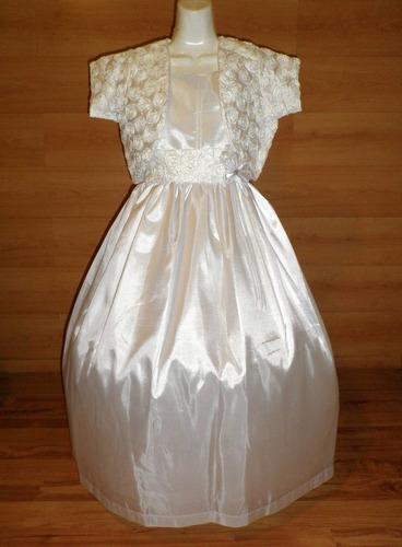 elegante vestido saco blanco shantu comunion confirmacion