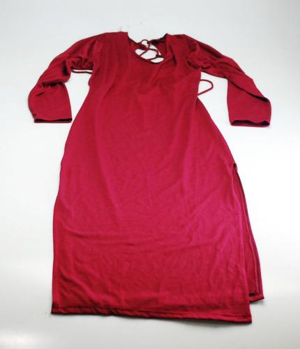elegante vestido vinotinto deportivo algodón ajustado mujer